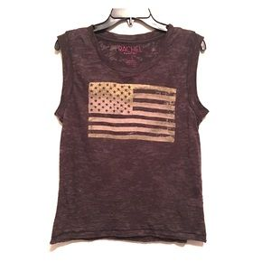 Rachel Roy distressed flag T large